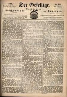 Der Gesellige : Graudenzer Wochenblatt und Anzeiger 1860.10.25 nr 125