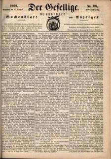 Der Gesellige : Graudenzer Wochenblatt und Anzeiger 1860.10.27 nr 126