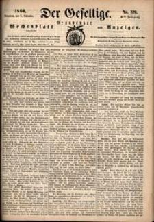Der Gesellige : Graudenzer Wochenblatt und Anzeiger 1860.11.03 nr 129
