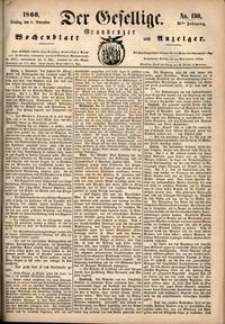 Der Gesellige : Graudenzer Wochenblatt und Anzeiger 1860.11.06 nr 130