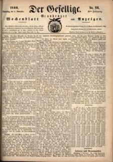 Der Gesellige : Graudenzer Wochenblatt und Anzeiger 1860.11.08 nr 131