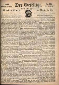 Der Gesellige : Graudenzer Wochenblatt und Anzeiger 1860.11.10 nr 132