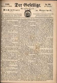 Der Gesellige : Graudenzer Wochenblatt und Anzeiger 1860.11.15 nr 134