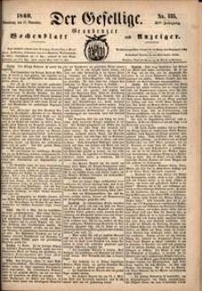 Der Gesellige : Graudenzer Wochenblatt und Anzeiger 1860.11.17 nr 135
