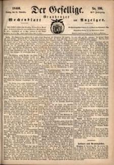 Der Gesellige : Graudenzer Wochenblatt und Anzeiger 1860.11.20 nr 136