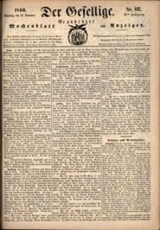 Der Gesellige : Graudenzer Wochenblatt und Anzeiger 1860.11.22 nr 137