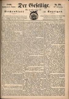 Der Gesellige : Graudenzer Wochenblatt und Anzeiger 1860.11.24 nr 138