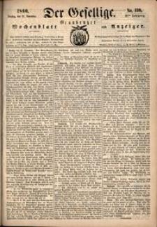 Der Gesellige : Graudenzer Wochenblatt und Anzeiger 1860.11.27 nr 139