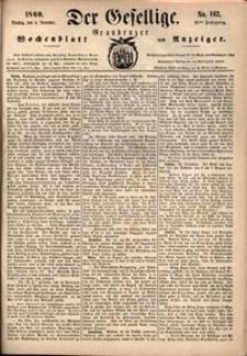 Der Gesellige : Graudenzer Wochenblatt und Anzeiger 1860.12.04 nr 142