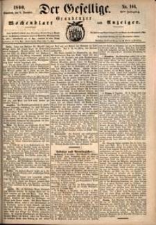 Der Gesellige : Graudenzer Wochenblatt und Anzeiger 1860.12.08 nr 144