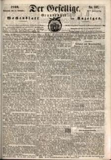 Der Gesellige : Graudenzer Wochenblatt und Anzeiger 1860.12.15 nr 147