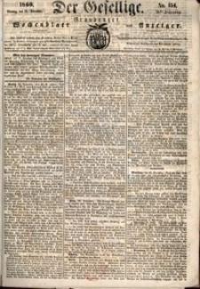 Der Gesellige : Graudenzer Wochenblatt und Anzeiger 1860.12.31 nr 154