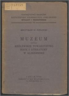 Muzeum czyli Królewskie Towarzystwo Nauk i Literatury w Aleksandrii