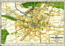 Plan der Stadt Bromberg mit Vororten