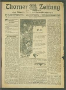 Thorner Zeitung 1907, Nr. 1