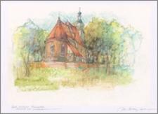 """Z cyklu """"Kujawy"""": Raciążek, kościół od prezbiterium"""