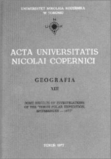 Acta Universitatis Nicolai Copernici. Nauki Matematyczno-Przyrodnicze. Geografia, z. 13 (43), 1977