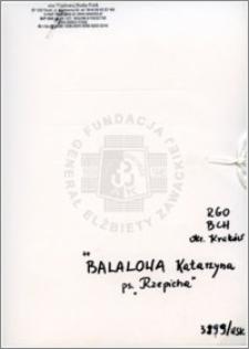 Balolowa Katarzyna