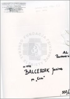 Balcerzak Janina