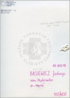 Basiewicz Jadwiga