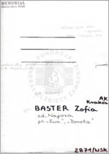 Baster Zofia