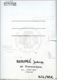 Beaupre Jadwiga
