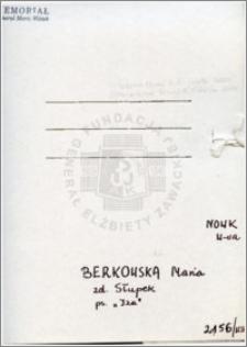 Berkowska Maria