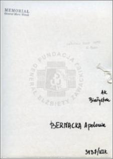 Bernacka Apolonia