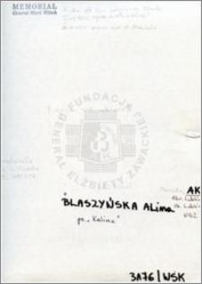 Blaszyńska Alina