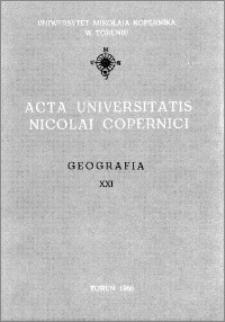 Acta Universitatis Nicolai Copernici. Nauki Matematyczno-Przyrodnicze. Geografia, z. 21 (67), 1986