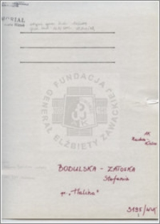 Bodulska-Zatoska Stafania