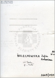 Bolechowska Zofia Antonina