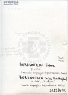 Borenstein Estera