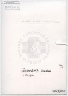 Chabowska Rozalia