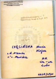 Chęcińska Maria Alojza