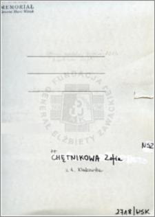 Chętnikowska Zofia