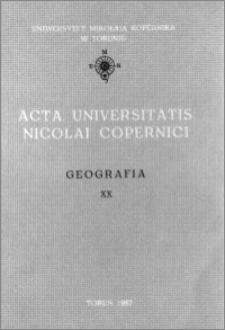 Acta Universitatis Nicolai Copernici. Nauki Matematyczno-Przyrodnicze. Geografia, z. 20 (66), 1987