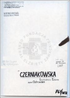 Czerniakowska Lechosława Tatiana