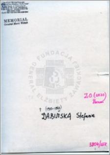 Dabińska Stefania