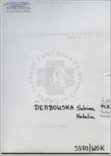 Dembowska Sabin Natalia
