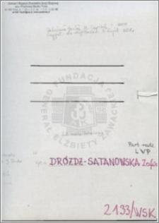 Dróżdż-Satanowska Zofia