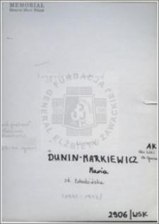 Dunin-Markiewicz Maria