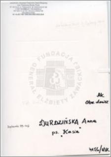 Durdzińska Anna