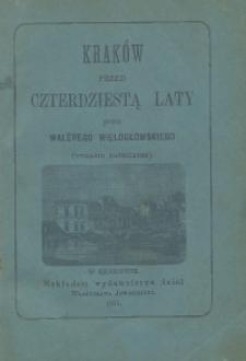 Kraków przed czterdziestu laty