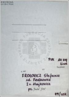 Frołowicz Stefania
