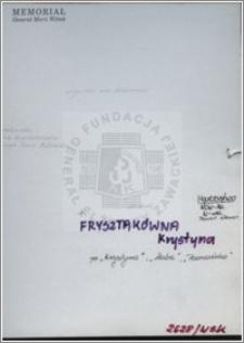 Frysztakówna Krystyna