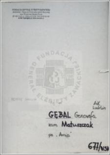 Gębal Genowefa