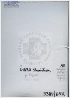 Giaro Stanisława