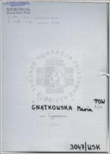 Gnatkowska Maria