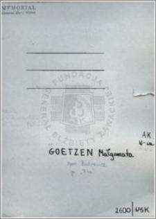 Goetzen Małgorzata